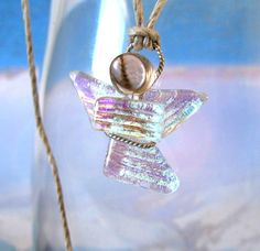 Guardian Angel Jewelry Dichroic Fused Glass Angel by mmartiniuk, $24.00
