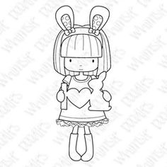Easter digi girl bunny teen freebie