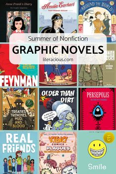 Looking for accessible nonfiction? Check out my Summer of Nonfiction: Graphic Novels list filled with history and memoirs in a graphic novel format! Book Suggestions, Book Recommendations, Ya Books, Books To Read, Manga Books, Science Comics, Better Books, Kids Reading, Reading Library