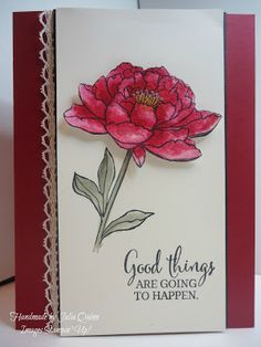 handmade by Julia Quinn  -    Independent Stampin' Up! Demonstrator: You've Got This Sketch Challenge