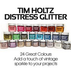 New Distress Glitter from Tim Holtz only $6.95