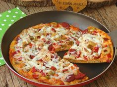 No Dough For Baking and Brewing: Pizza in Pan, Pizza Hut Cookie, Cookie Dough, Pizza Salami, Pizza Photo, Easy Cake Recipes, Hawaiian Pizza, Vegetable Pizza, Brunch, Food And Drink