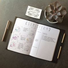 Semester Overview #bulletjournal #bujo #spread - Maren from Bullet Journal for Students
