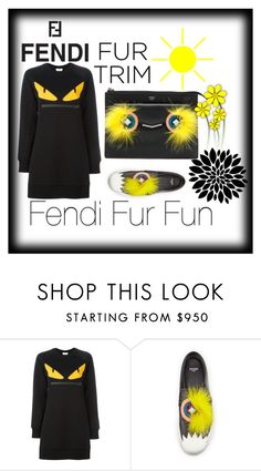"""Fendi Fur Fun"" by dimeond711 ❤ liked on Polyvore featuring Fendi"