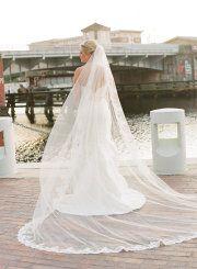Beautiful long veil - style me pretty