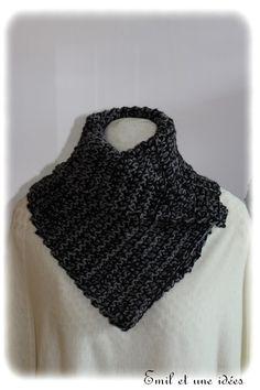 Cache cou crochet noir