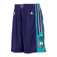 Mens Charlotte Hornets adidas Purple Swingman Shorts