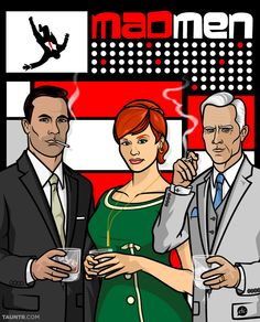 #MadMed meets #Archer in this sweet #art celebrating the season 5 premiere of Mad Men