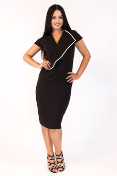 Office Dresses, Office Outfits, Dresses For Work, Office Style, Office Fashion, Fashion Dresses, Cold Shoulder Dress, Pants, Clothes