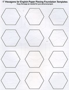 Free Printable   Hexagon Paper Pieces  The Little Mushroom