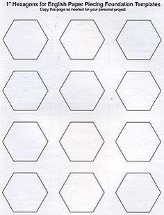 Tips for cutting hexagon templates...plus a great template ... : hexagon quilt pattern template - Adamdwight.com