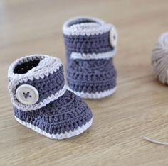 (4) Name: 'Crocheting : Crochet Baby Booties - Warm Toes
