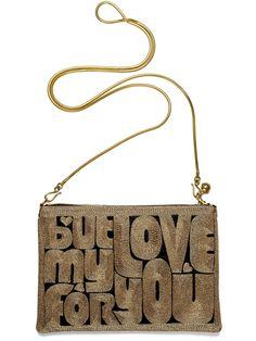 forever gold zip pouch medium with chain / anne grand-clément