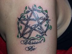 """Tattoo pagan   ... Wrapped Pent with """"Blessed Be"""" - Submit an Entry: Pagan Tattoo Gallery"""