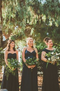 Fern bridesmaid bouquets by San Diego wedding florist, Compass Floral.