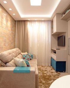 Awesome Apartment Decorating for small living room Small Living Rooms, Home Living Room, Living Room Designs, Tiny Living, Small Apartments, Small Spaces, Decoration Inspiration, Design Inspiration, Design Ideas