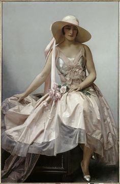 Portrait de femme. Etcheverry Hubert Denis (1867-1950).
