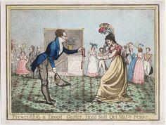 Dighton, Richard, 1795-1880, printmaker. Title: Presenting a dropt garter honi soit qui mal y pense Richard Dighton invt. et sculpt.