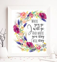 Ruth 1:16 Where you go I will go Bible printable by SoulPrintables                                                                                                                                                                                 More
