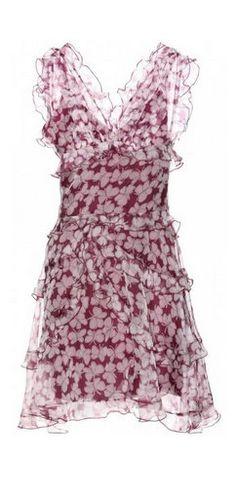 Nina Ricci Butterfly-print Silk-organza Dress