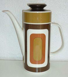 Vintage Retro 1960s 1970s Meridian Meakin Studio Geometric Coffee Pot | eBay