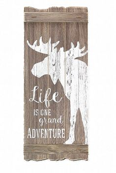 Youngs 8 x x Wood Moose Wall Sign -- You can figure out more details at the link of the image. (This is an affiliate link). Hanging Signs, Wall Signs, Rustic Lodge Decor, Winter Lodge, Winter Bedroom, Window Shutters, Wood Planks, Log Homes, Wood Art