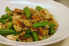 Laine's Recipe Box -  Shrimp Fried Rice with Sugar Snap Peas - June 16, 2010