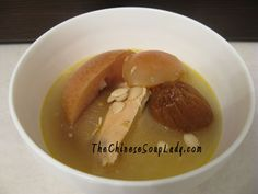 The Chinese Soup Lady & Chinese Soup Recipes » Blog Archive » Snow Pears and Apples in Chicken Broth