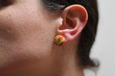 NEW Button Stud Earrings FREE Shipping on Domestic by SewFlo, $5.50