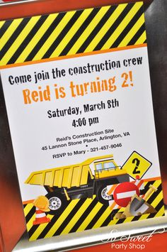 Construction, Dump Trucks Birthday Party Ideas | Photo 2 of 9 | Catch My Party