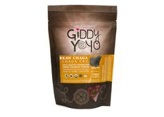 Giddy Yoyo CHAGA is a slow maturing mushroom which grows primarily on birch trees, obtaining nutrients from its host and making these nutrients available to us. #chaga #medicinal #healthy