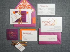 Modern Wedding Invitations Wedding Invitation by JulieHananDesign