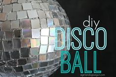 A way to recycle old CD's that do not work! A homemade disco ball! The girls really want to do this!
