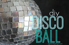 it's a bird...it's a plane..it's a...DISCO BALL - A girl and a glue gun diy a disco ball with old cds cut up!!!