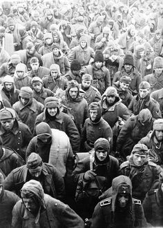 Prisoners. ... WW2. Stalingrad in January 1943: German, Romanian and Italian soldiers of the army of Marshal Paulus, who captured.