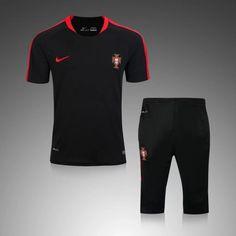 Maillot Training Portugal Noire Mon Cheri, Sport Outfits, Gym Men, Portugal, Track, Suits, Design, Fashion, Football Shirts