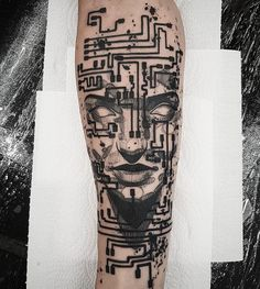 Badass Tattoos, New Tattoos, Hand Tattoos, Sleeve Tattoos, Tattoos For Guys, Cool Tattoos, Tech Tattoo, Tattoo Pain, Tattoo Design For Hand