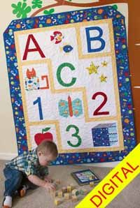 ABC 123 Digital Quilt Pattern from QuiltandSewShop.com