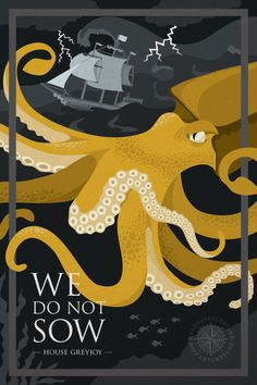 Game of Thrones posters - house Greyjoy by WindsOfBeleriand.deviantart.com on @DeviantArt