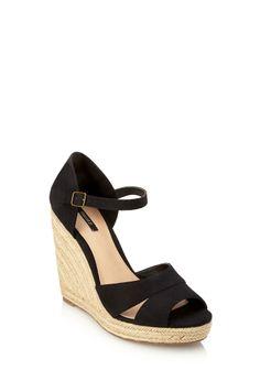 Canvas & Espadrille Wedge Sandal | FOREVER21 - 2000067900