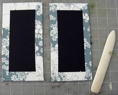 the surface so that the outside of the box will have no air bubbles. Flip your paper and board back to the underside. Then fold up the edges of the paper around the board. This is very much like wrapping a present (picture 1). Repeat until both sides are fully wrapped as shown (picture 2).