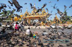 MYANMAR Reisetipps: YANGON | Hier bekommst du die besten Insidertipps für deine Reise nach Yangon in Myanmar: Hotels, Gästehäuser, Kosten, Anreise, Karten, Maps, Restaurants, Eintrittspreise, Reiseberichte uvm. www.MyanmarBurmaBirma.com | Nahe der Shwedagon-Pagode