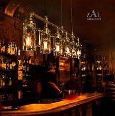 Lampe de Suspension de Mug de verre de bière. Pendentif lumineux avec vintage style Edison ampoules.