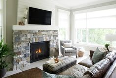 Image result for fireplaces with shiplap
