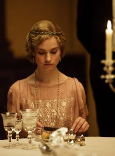 Lily James as Lady Rose MacClare in Downton Abbey (TV Series, 2013)