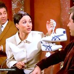 """(The Merv Griffin Show) - """"...not with these honey's....wrestling shoes."""""""