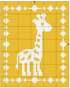 Crochet Baby Blanket Filet Giraffe Blanket Crochet Pattern - The Lavender Chair - Don't you just love filet crochet blankets. Make this Filet Giraffe Blanket with this FREE crochet pattern provided by The Lavender Chair Crochet Patterns Filet, Crochet Giraffe Pattern, Crochet Borders, Afghan Patterns, Crochet Squares, Crochet Ideas, Stitch Patterns, Knitting Patterns, Crochet For Beginners Blanket