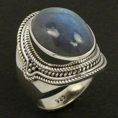 Natural Fire LABRADORITE Gemstone 925 Sterling Silver Fashionable Ring Size US 6 #Unbranded Silver Jewellery Indian, Labradorite Ring, Fashion Rings, Sterling Silver Jewelry, Gemstone Rings, Jewelry Design, Fire, Gemstones, Natural