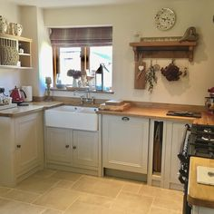 Bright morning today time to get the wash on and pegged out before it rains Kitchen Tiles, New Kitchen, Kitchen Decor, Kitchen Design, Awesome Kitchen, Small Galley Kitchens, Victorian Kitchen, Hygge Home, Cottage Interiors