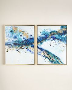 """Two """"Azure Canyon"""" Prints - Horchow"""